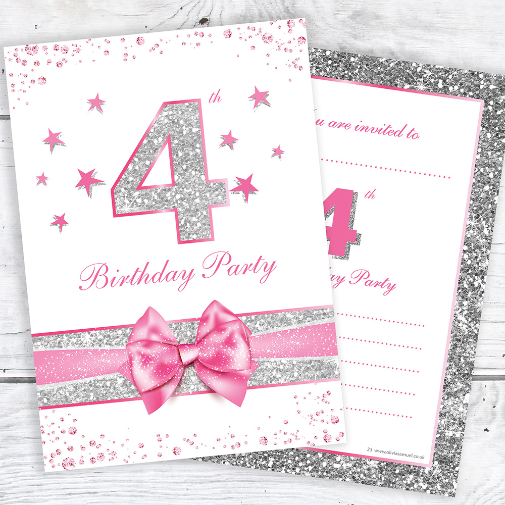 4th Birthday Invites