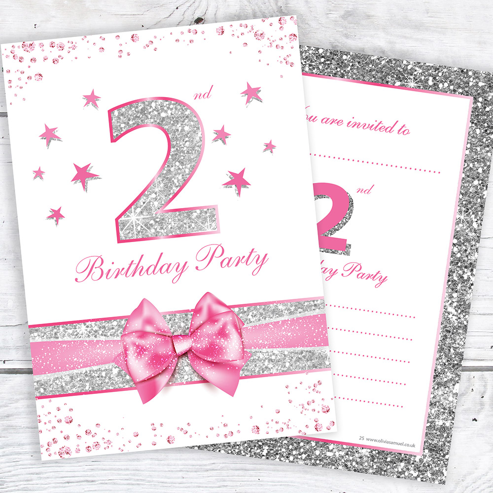 Details About 2nd Birthday Invites