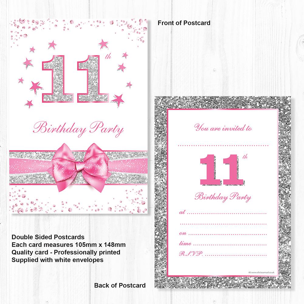 11th Birthday Invites