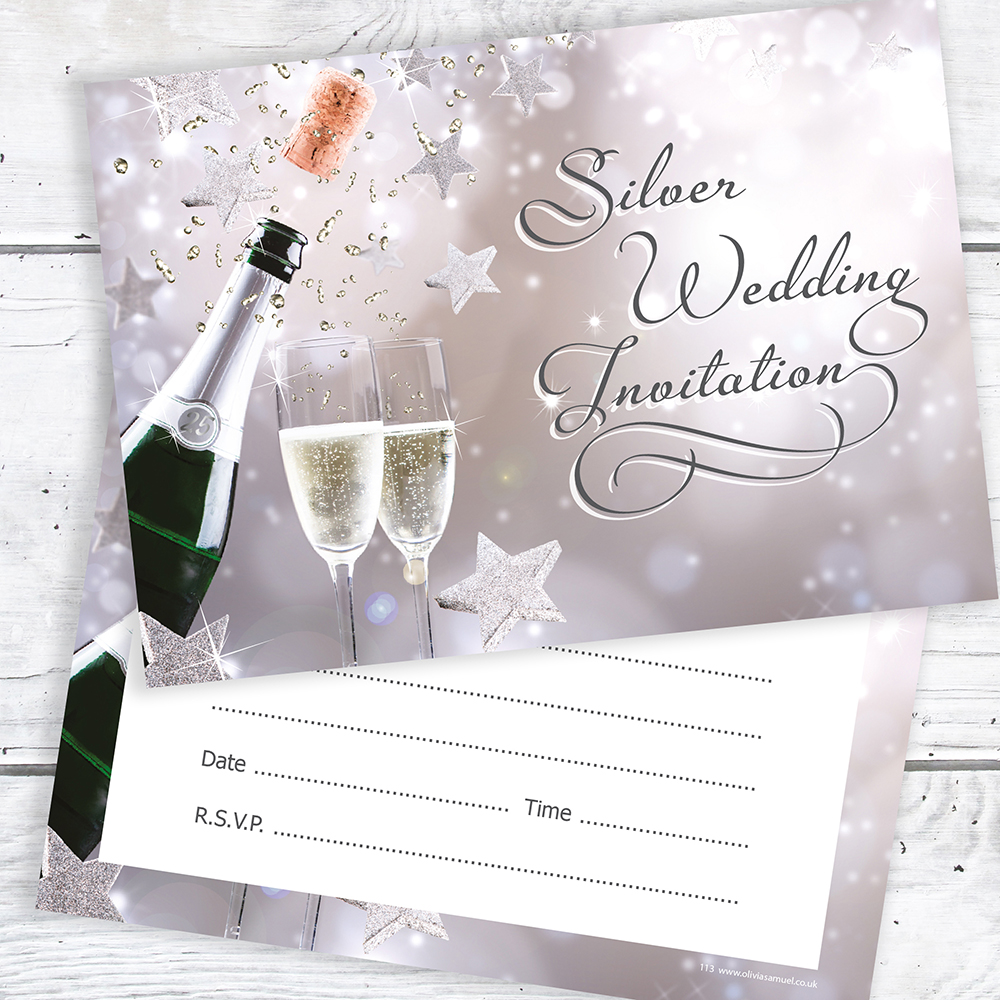 10 Year Wedding Anniversary Invitations: Silver Wedding Anniversary Invitations